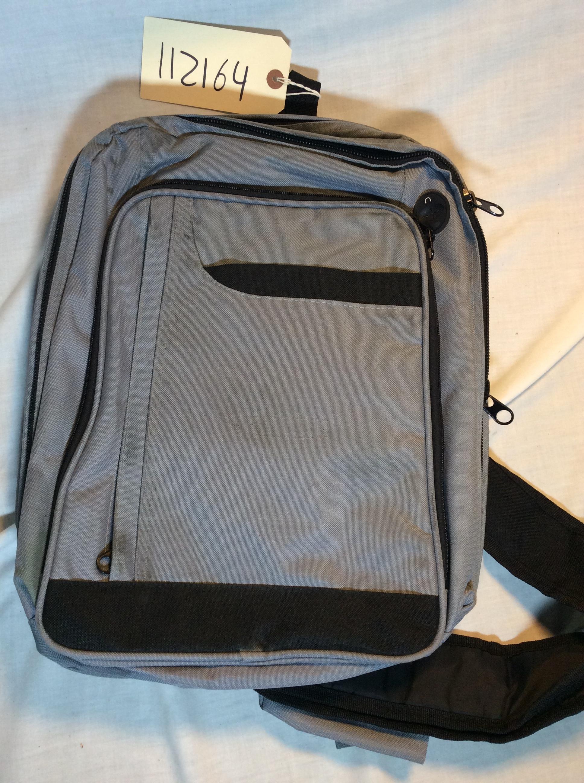 Square grey shoulder bag
