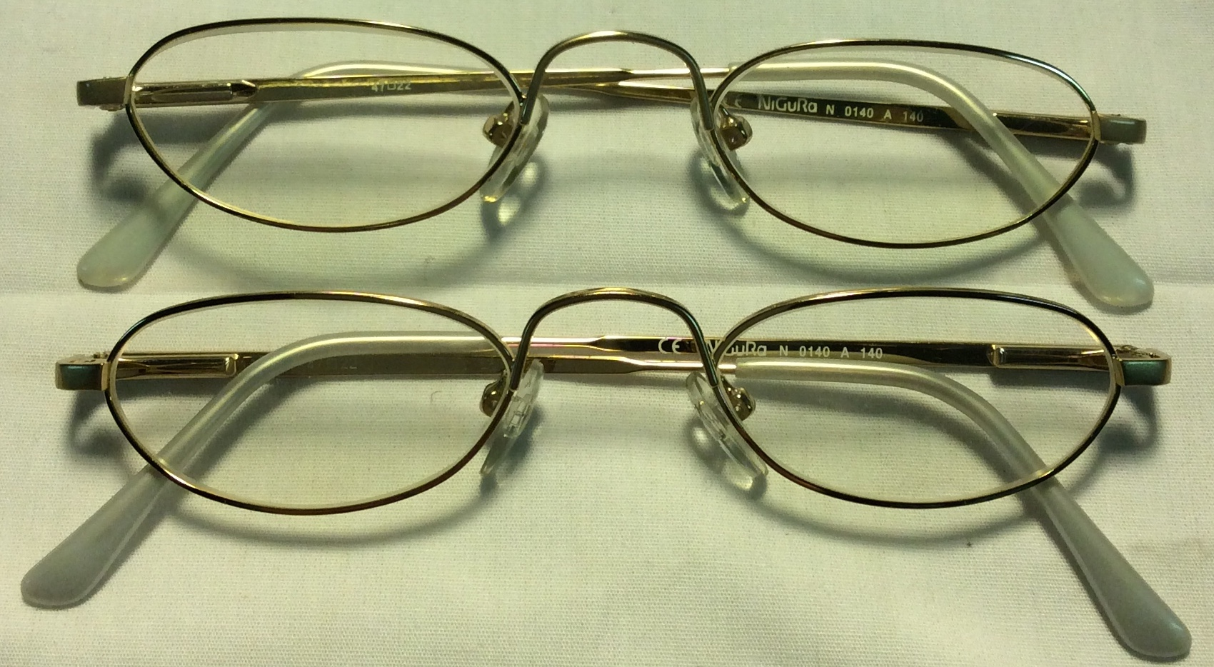 NiGuRa Thin gold metal frames