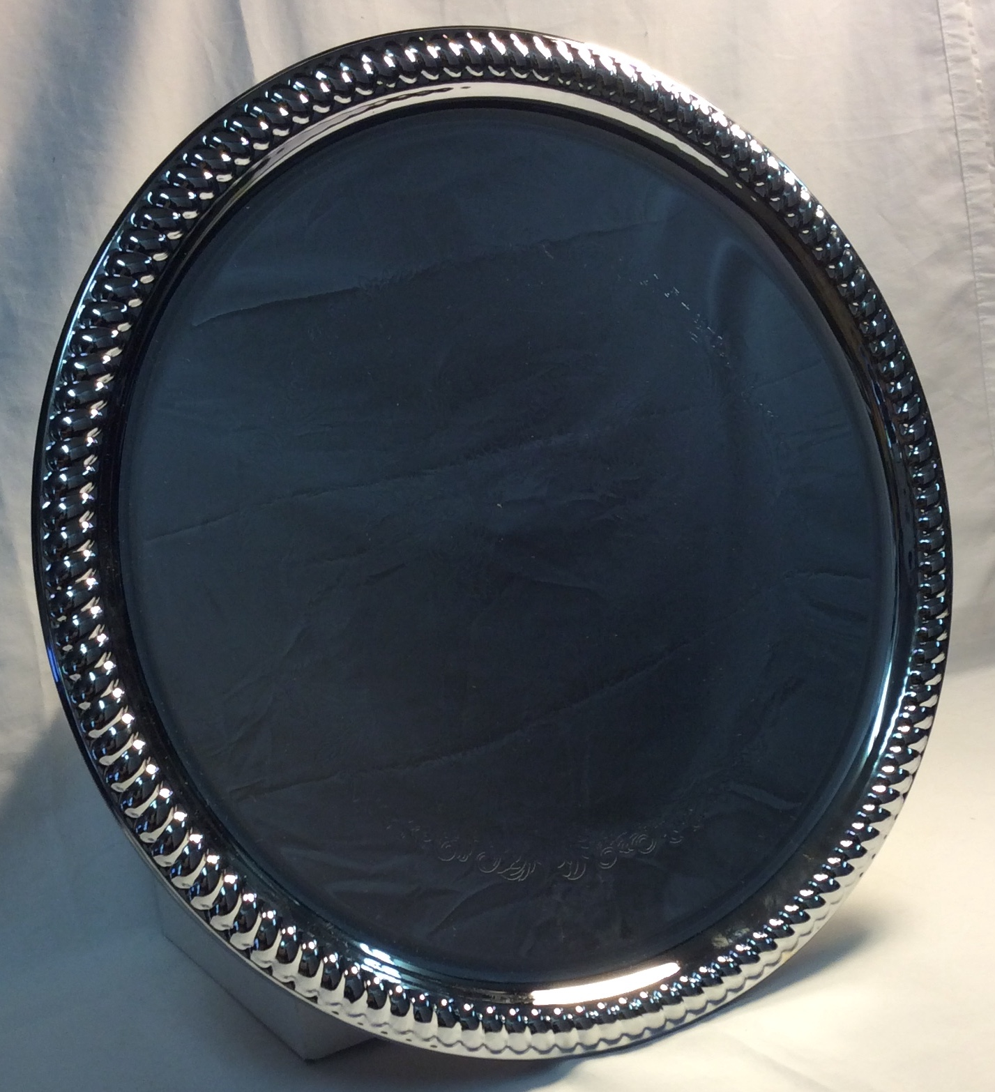 Silver serving trays - x2