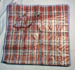 """22""""x23"""" red & navy blue plaid woven"""