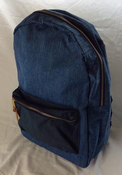 Denim color school bag