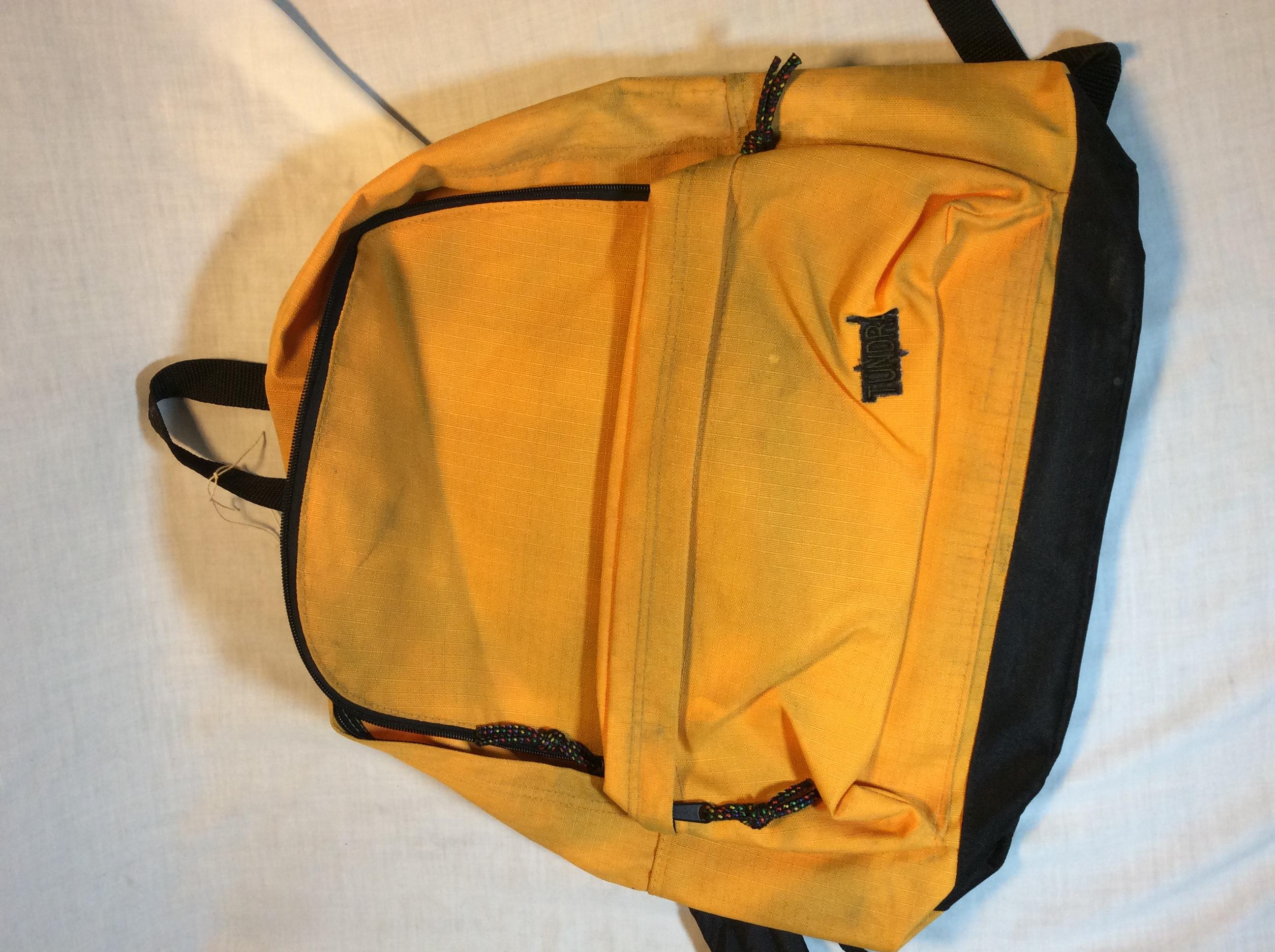 Yellow Tundra backpack