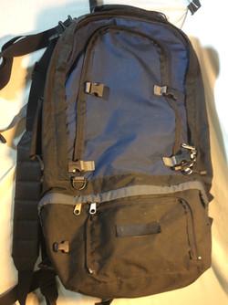 Large Older Blue Hiking Backpack