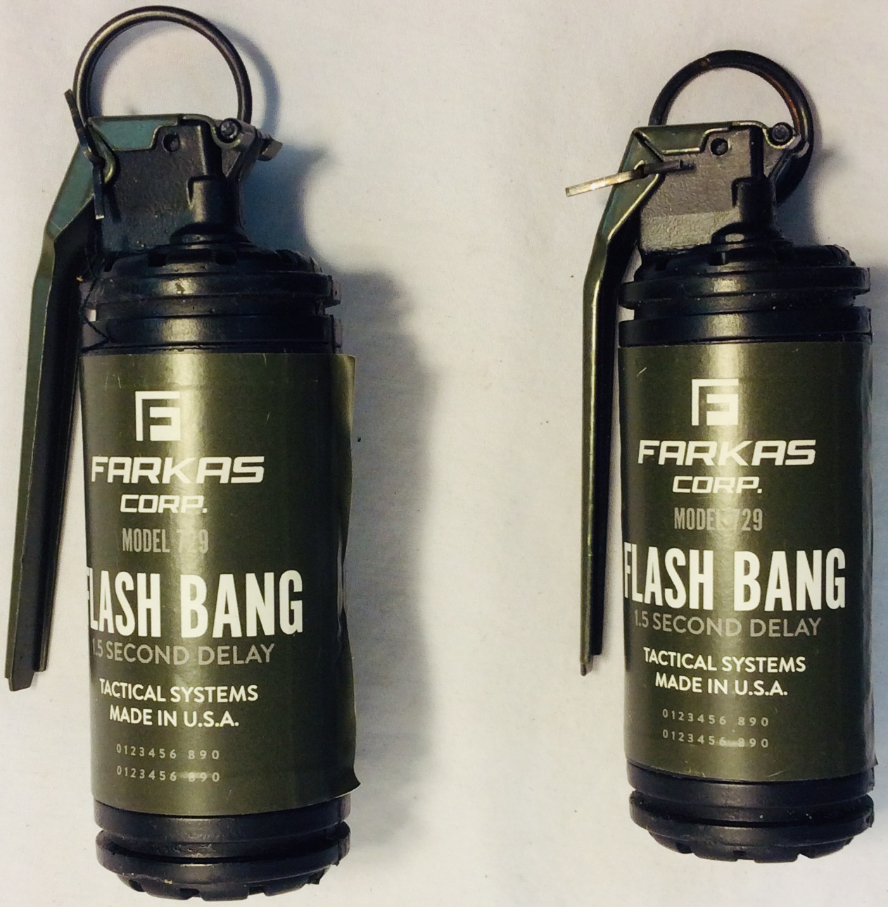 Tear gas grenade x2 rubber