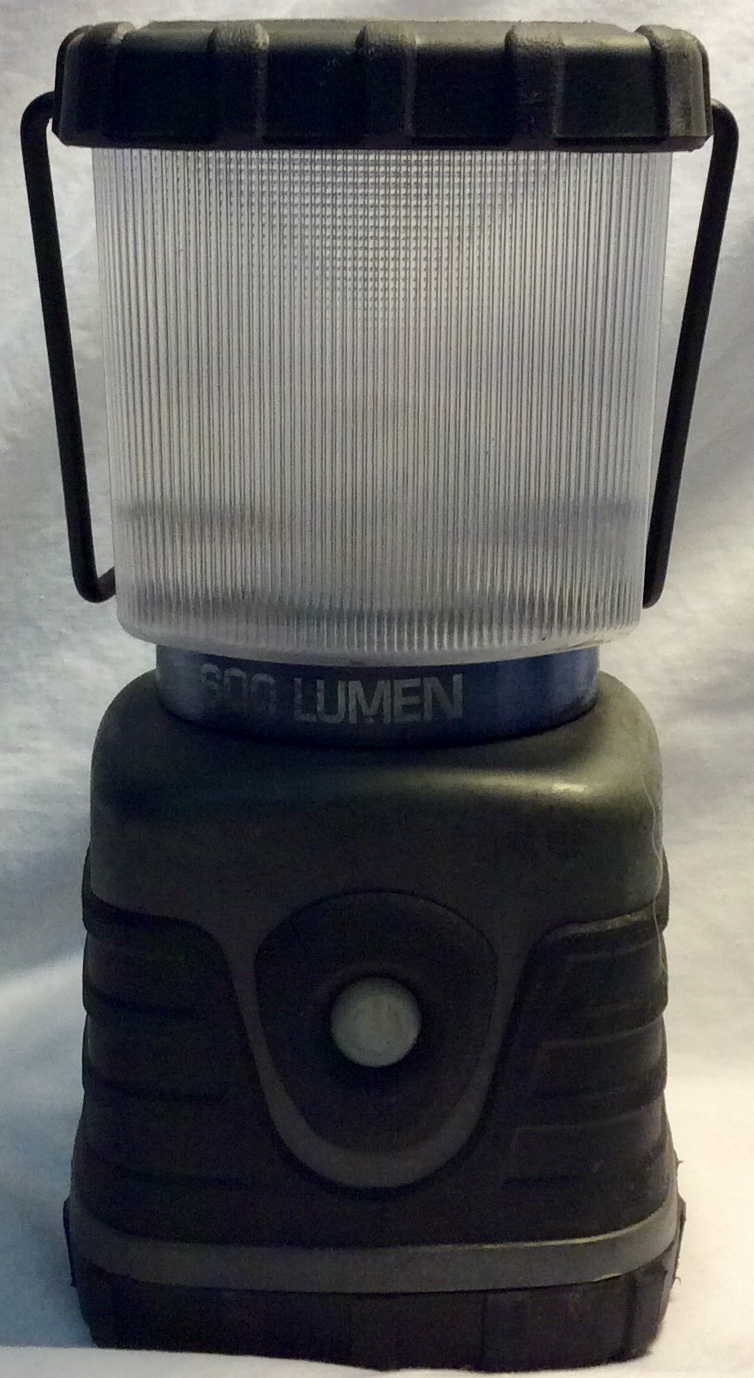 600 lumen Grey lantern with black
