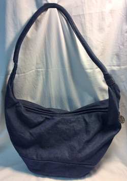 Big blue denim purse