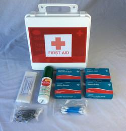 Medium plastic first aid kit (Filled)