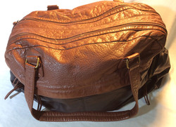 Black and Brown leather travel bag