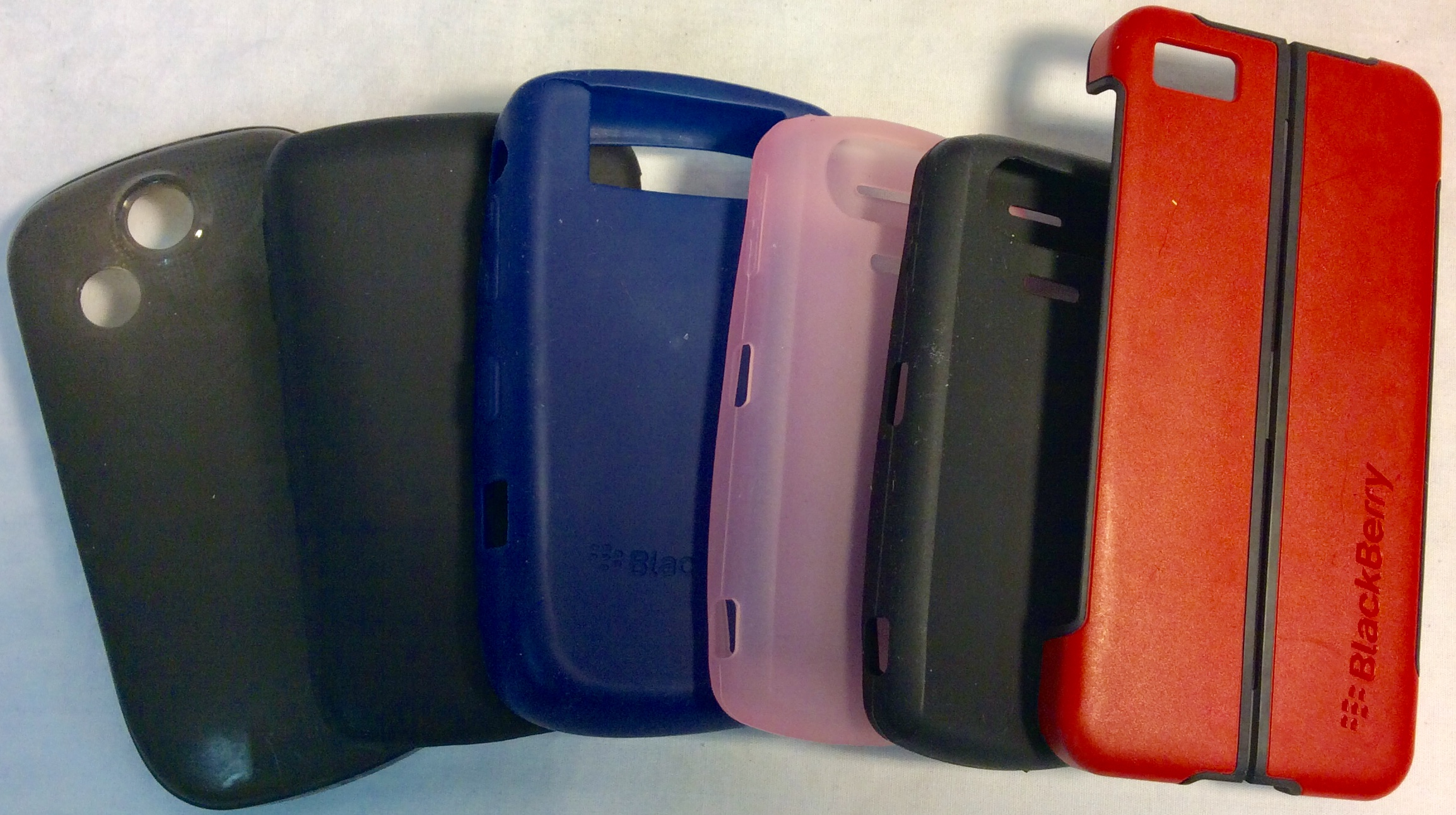 Assorted Blackberry phone cases