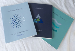 Misc college textbooks. Physical Science, Biology, Chemistry