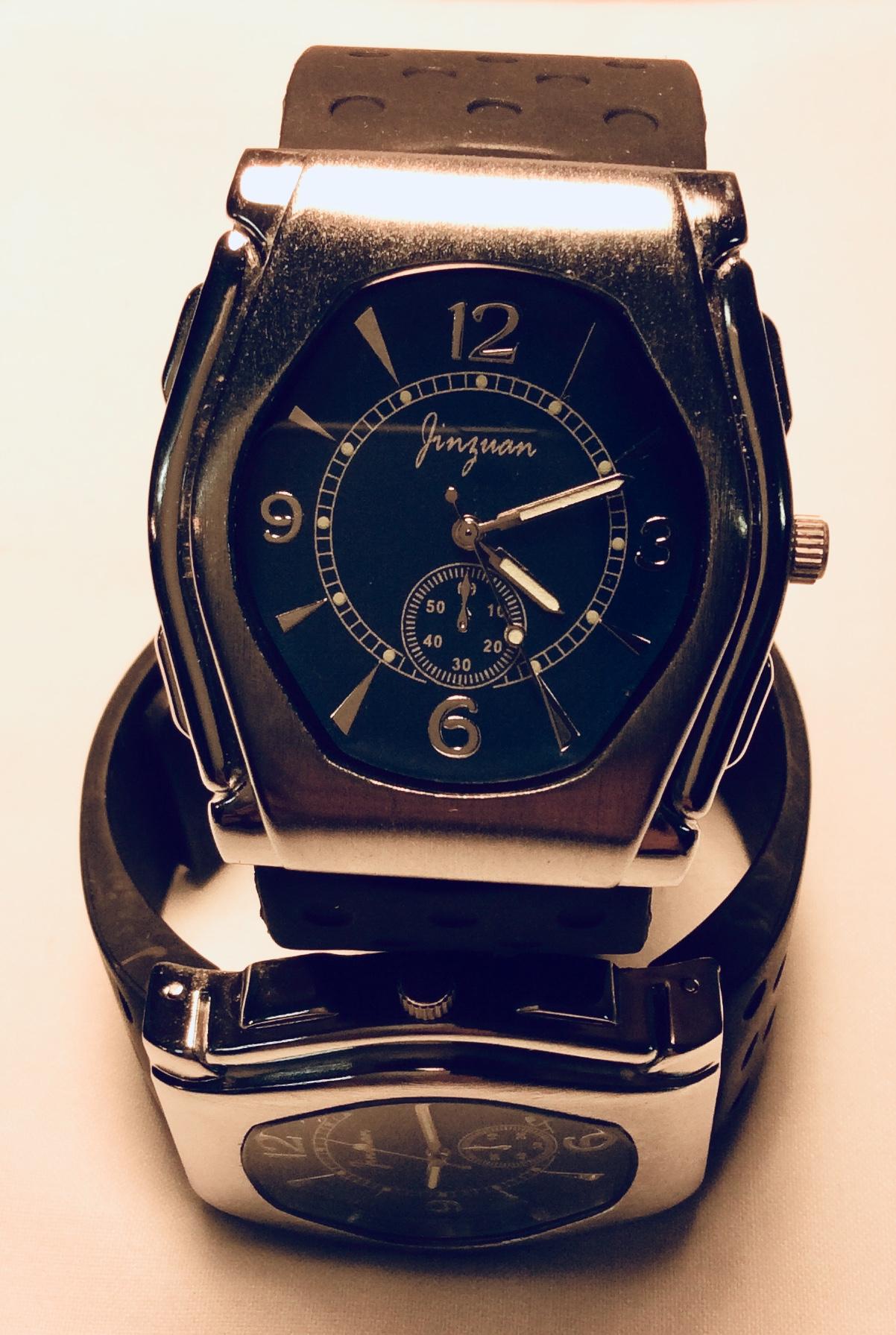 Steel frame watch