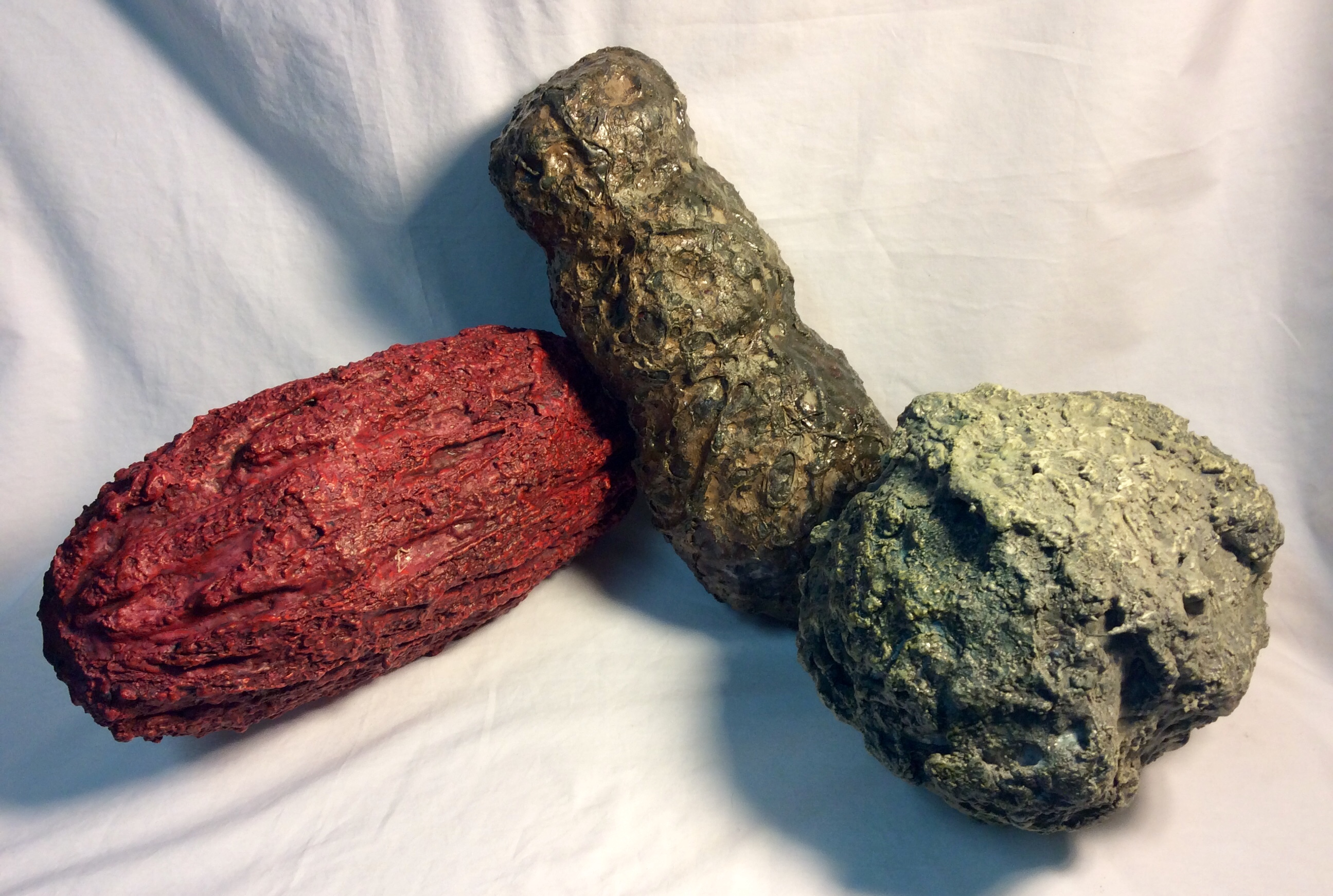 Assorted custom build foam extra terrestrial rocks