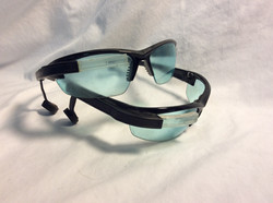 Futuristic glasses with mouth piece x2