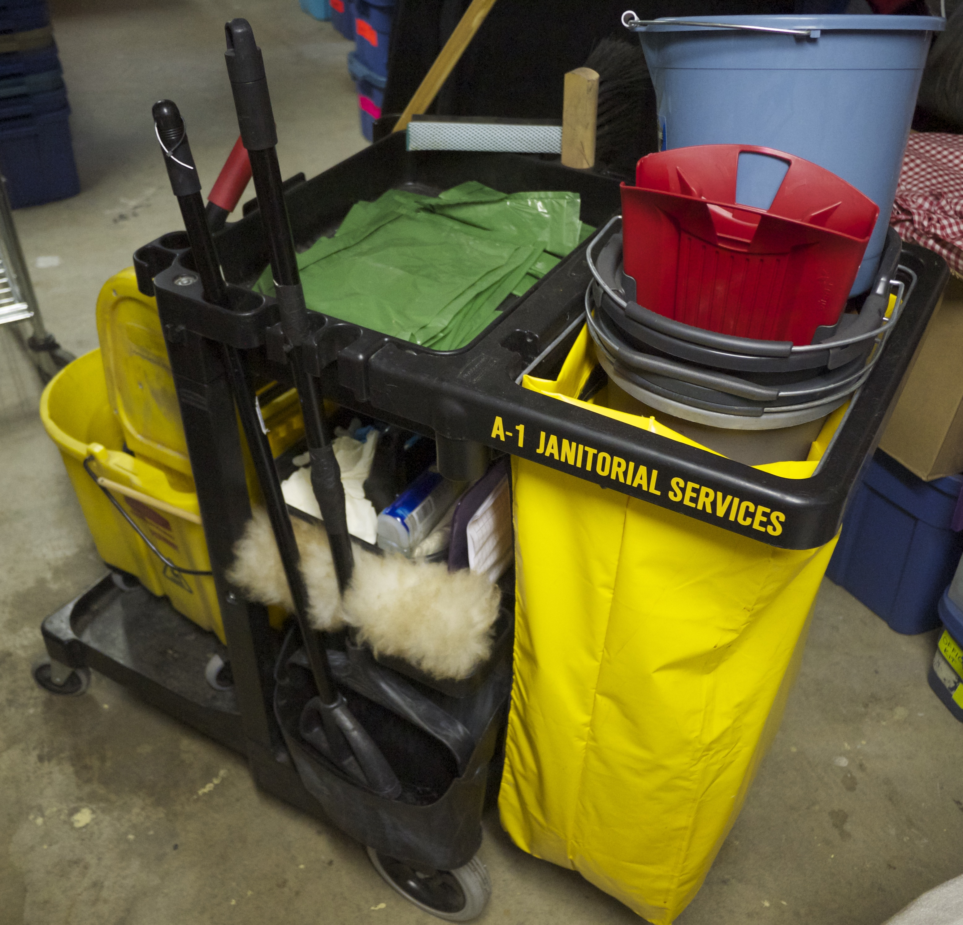Janitorial Services cart