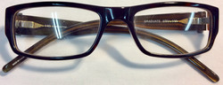 Square eyeglasses with turtle frame
