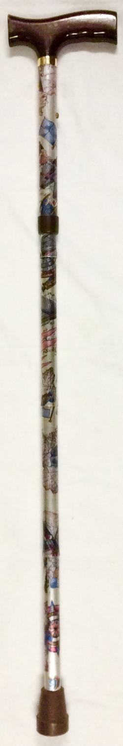 adjustabl aluminium T handle cane