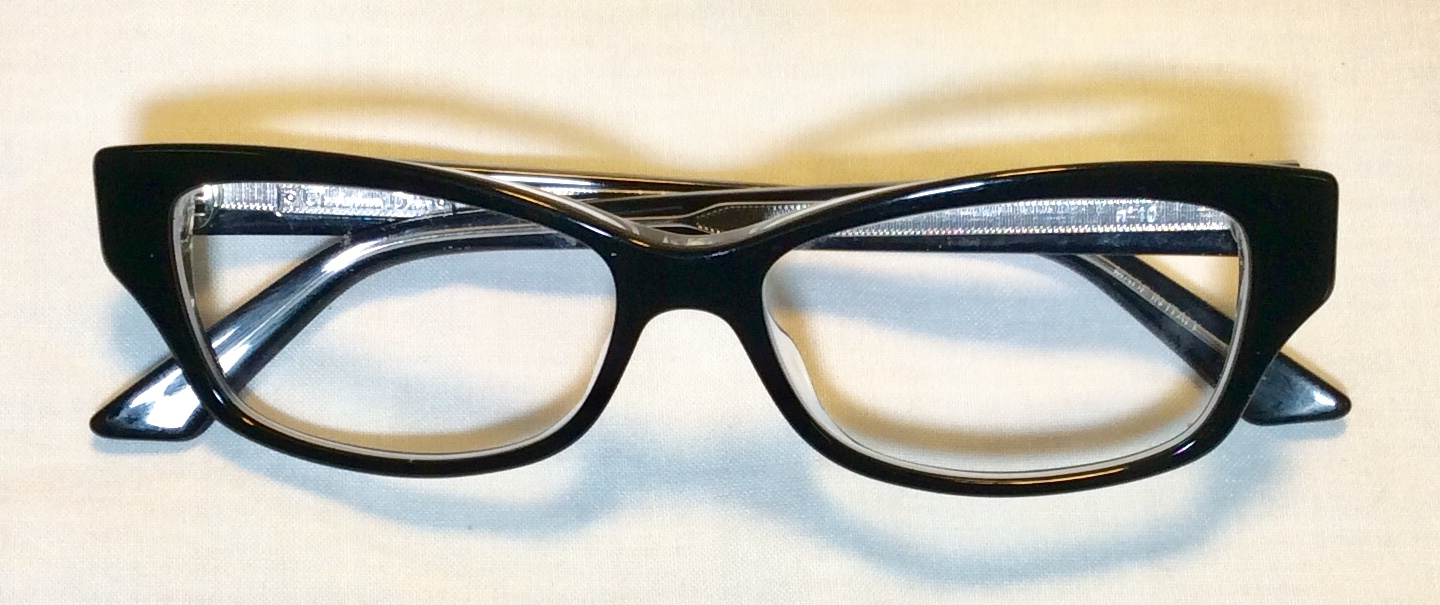 Womens Black rimed ARL glasses