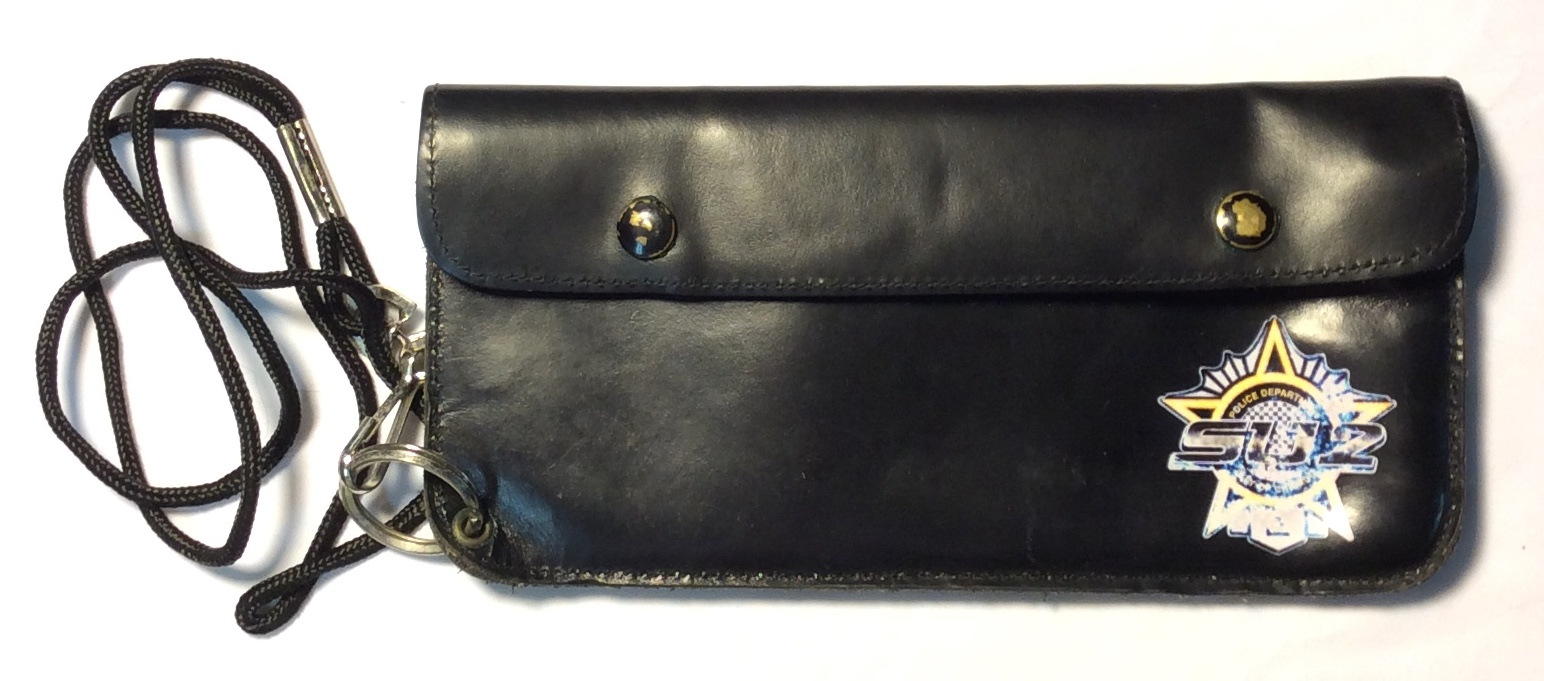 black leather long with zipper