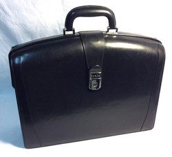 Bosca black leather briefcase