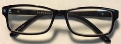 Infokus Black plastic frames, silver