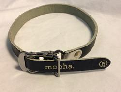 Mopha Dog collar black unfinished leather