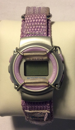 Swerve watch - round silver face