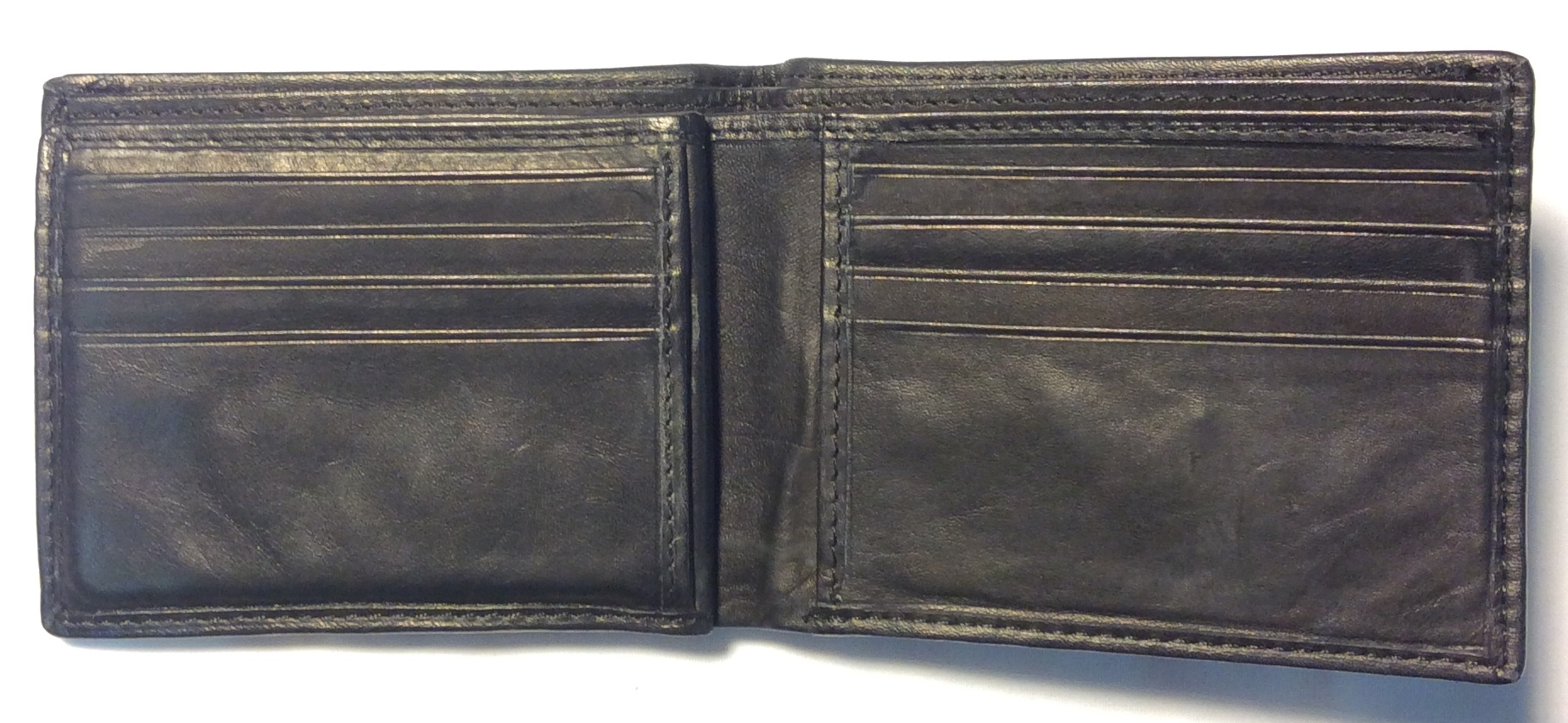 Black leather w/ small black stitch