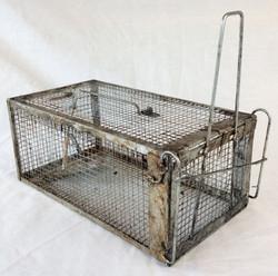Small rat trap, aged, rusty