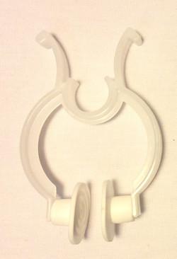 Nose plugs, white plastic