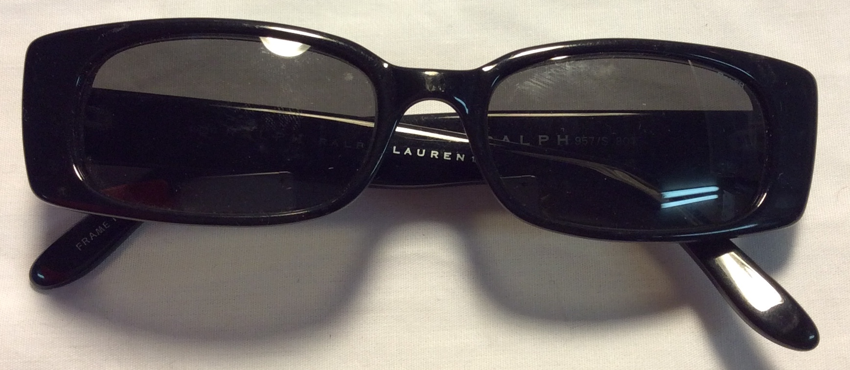 Ralph Lauren Thick black plastic