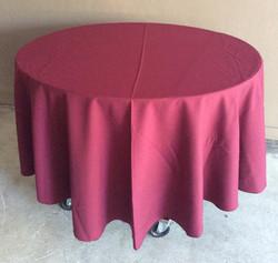 "90"" Diameter Table Cloths - burgundy"