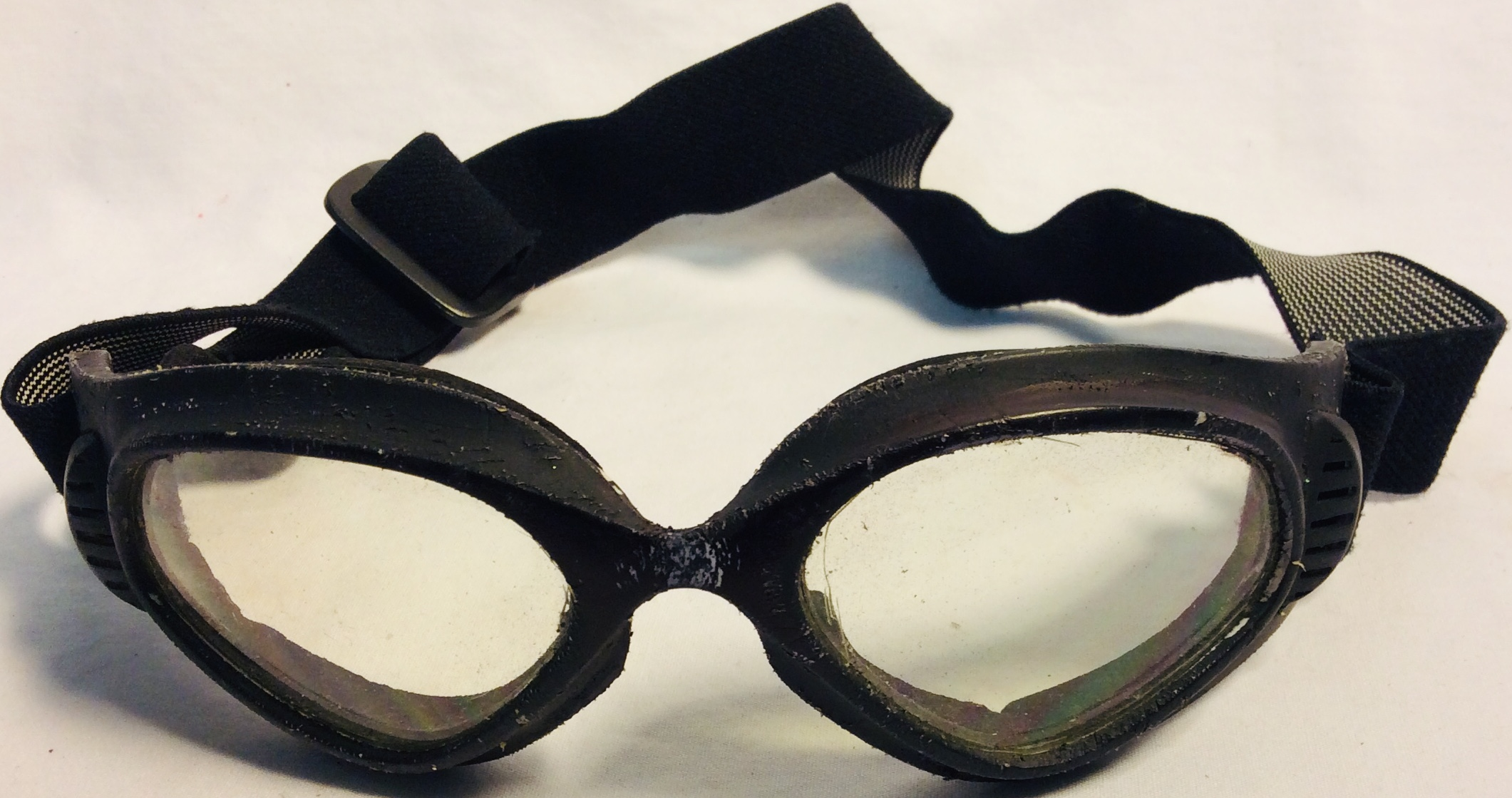 Aged safety motorcycle goggles