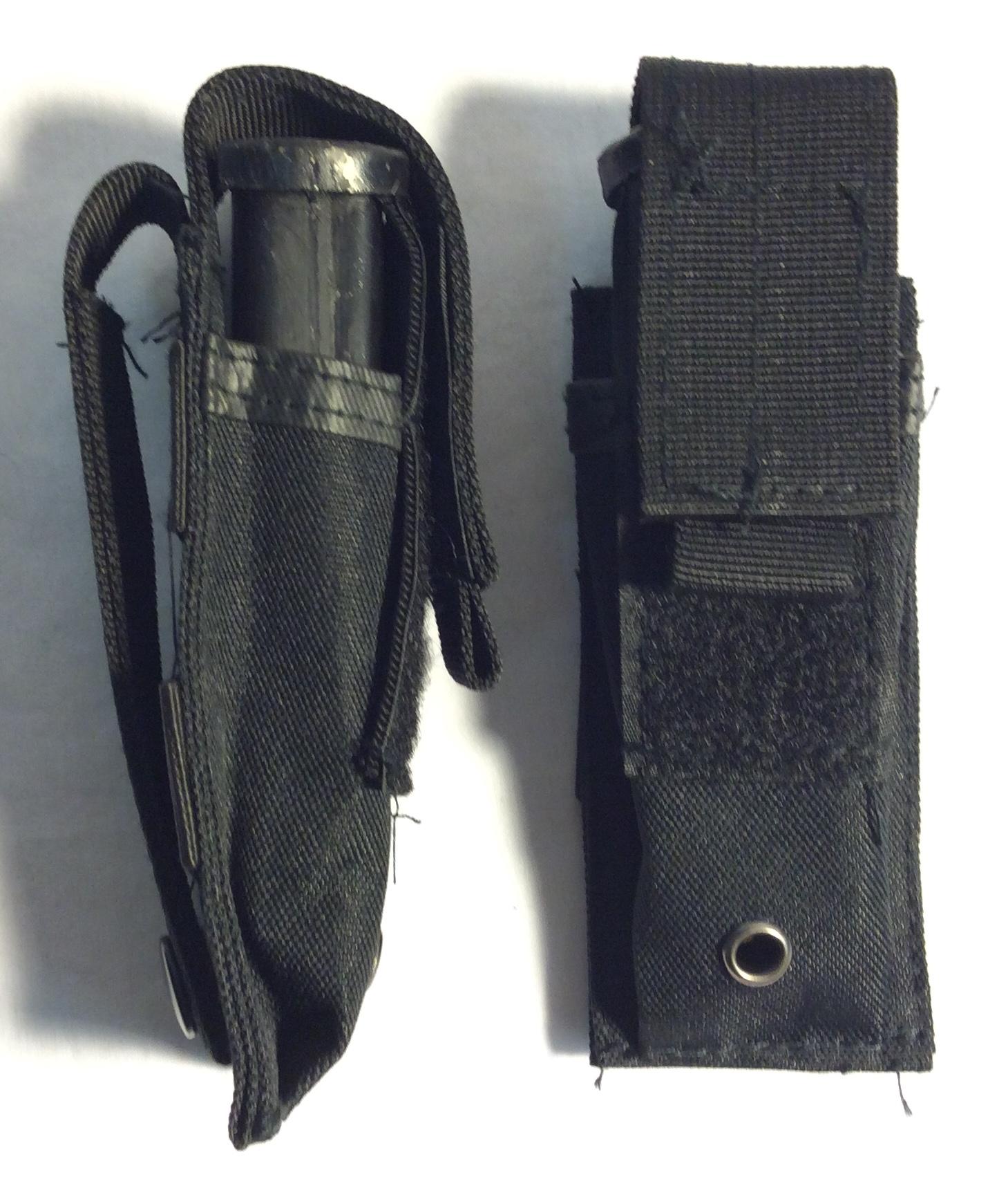 Black nylon pistol mag pouches