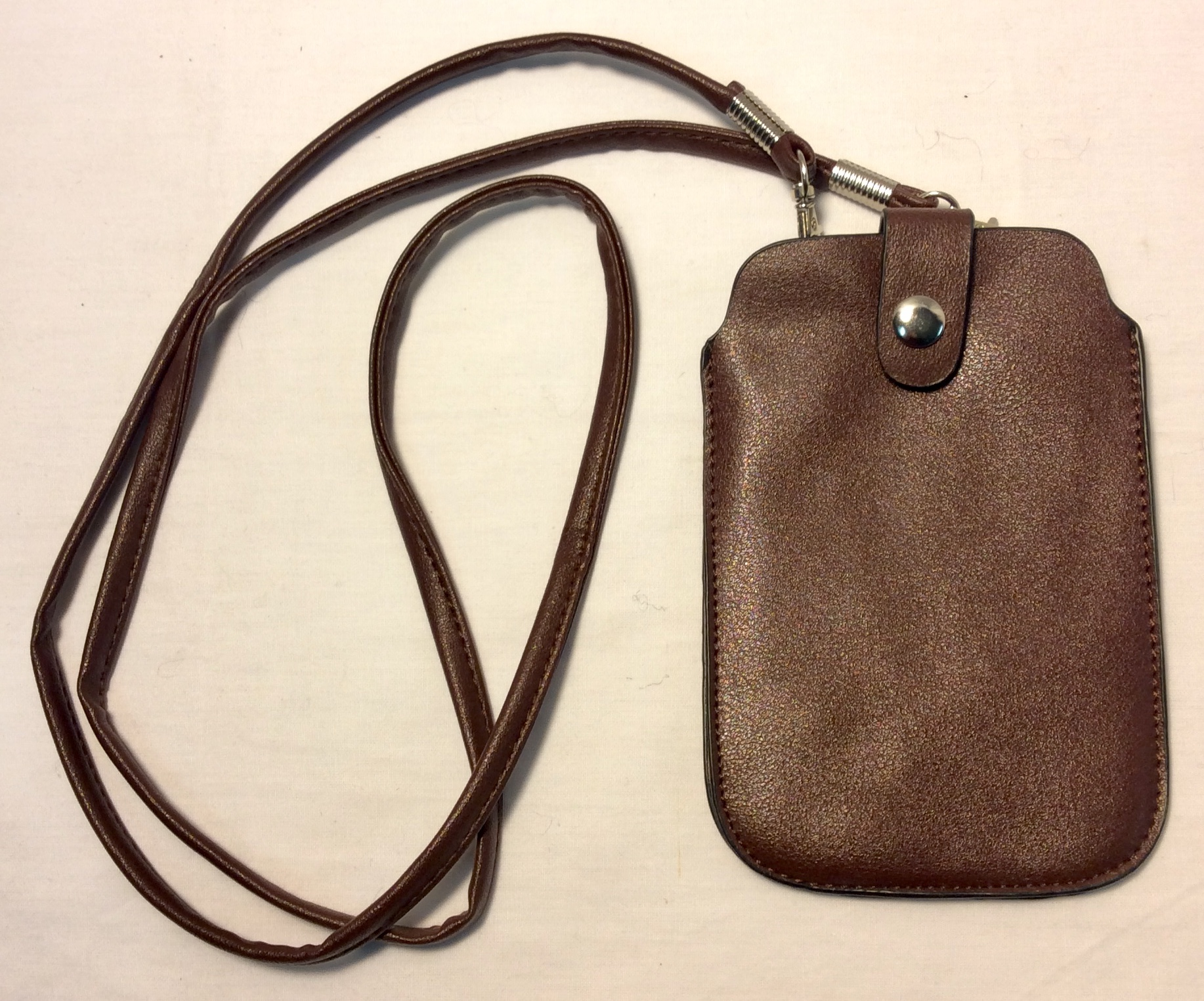 Brown Leather Phone Purse