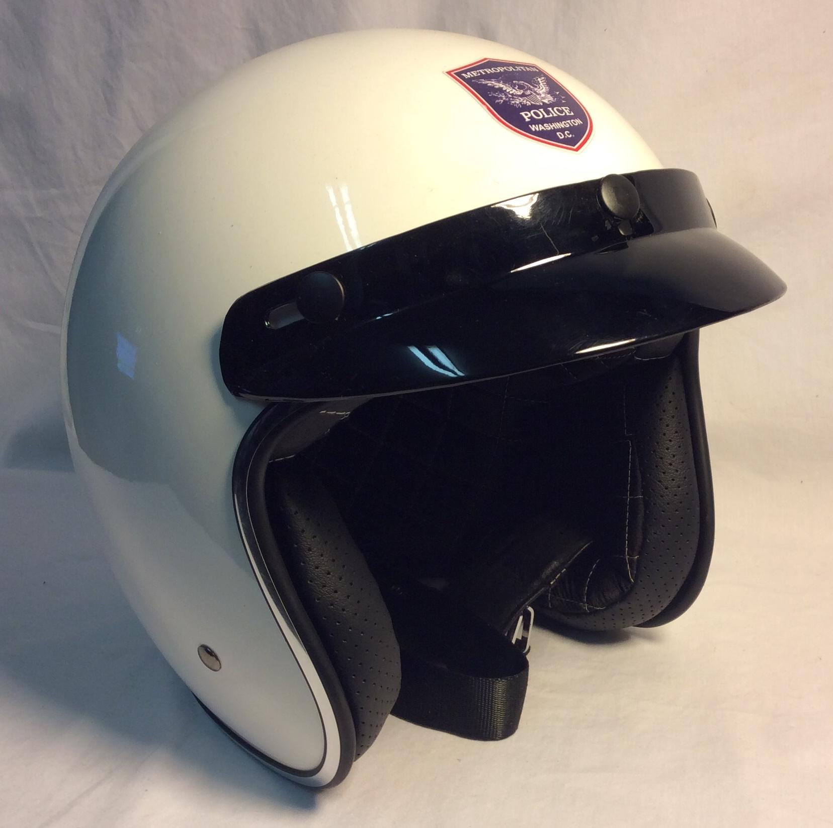 White Police Motorcycle Helmet