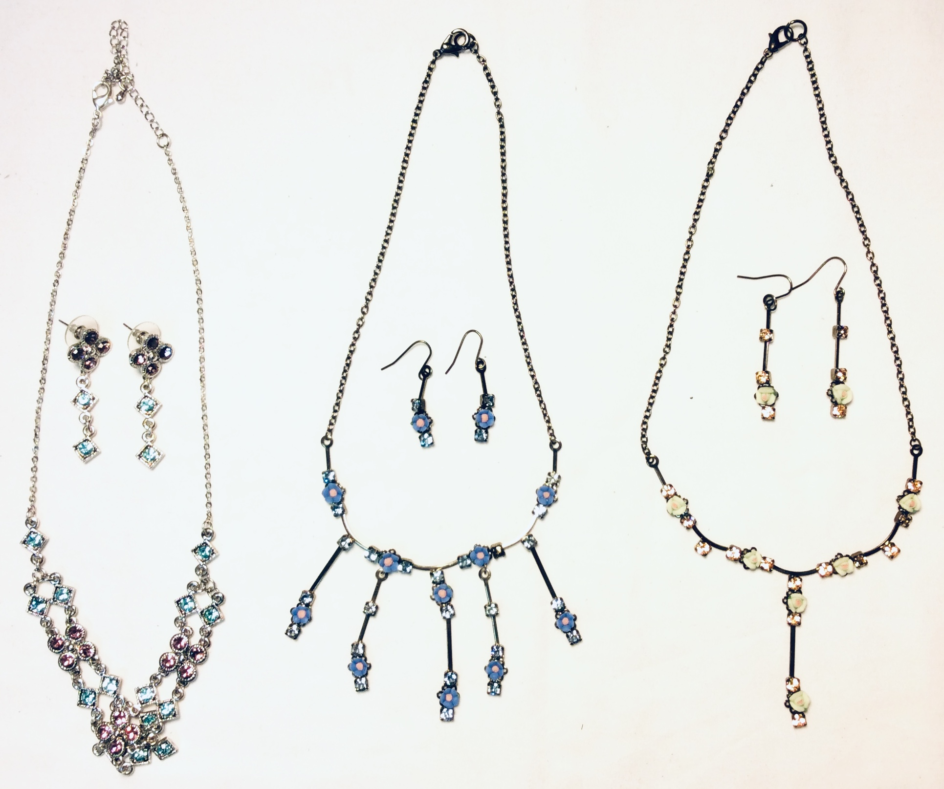 Assorted necklace & earring sets