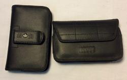 Black Leather Phone Belt Clips