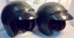 Biltwell Black motorcycle helmet with visor