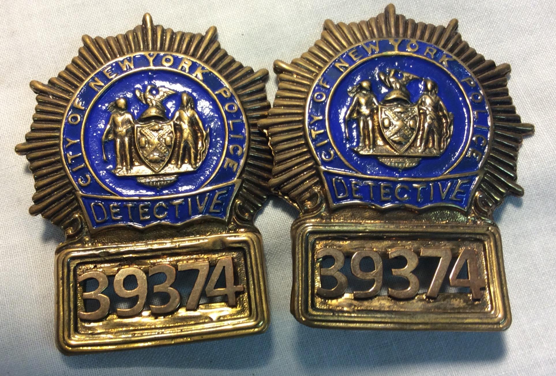New York Detective badge