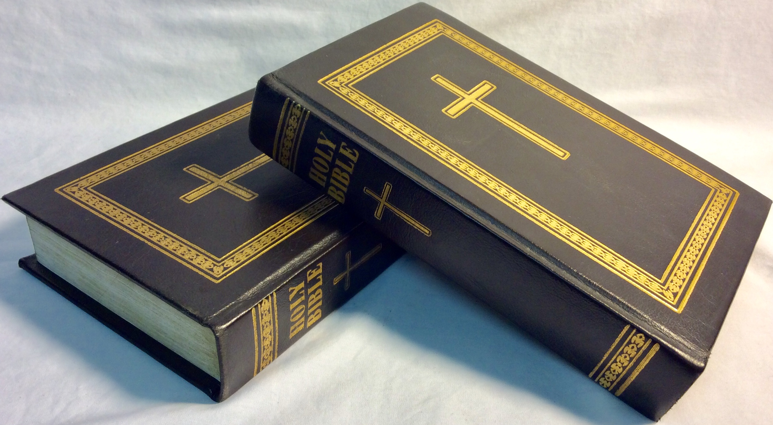 Black cover holy bible
