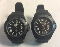WindRiver watch Blk Face rubber band WR50M