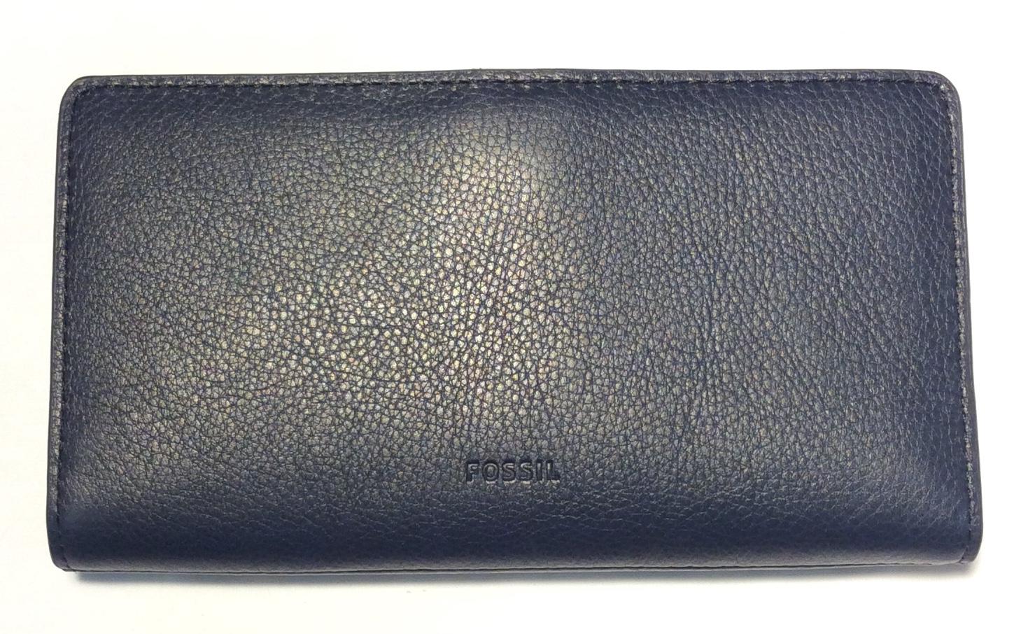 Fossil Dark blue leather wallet