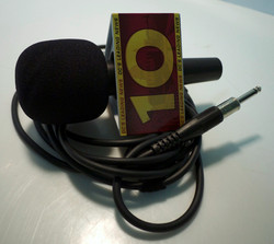 Reporter's Mic with Flag