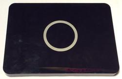 Rectangular black pad with light up