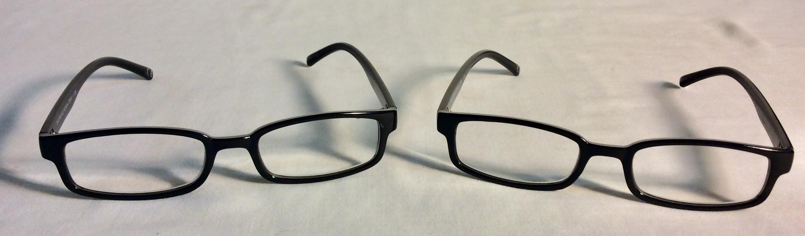 Black plastic frame eyeglasses