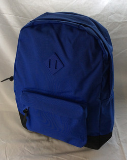 Blue herschel school bag with blue logo piece
