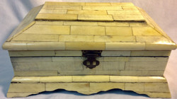 Faux white stone wooden box