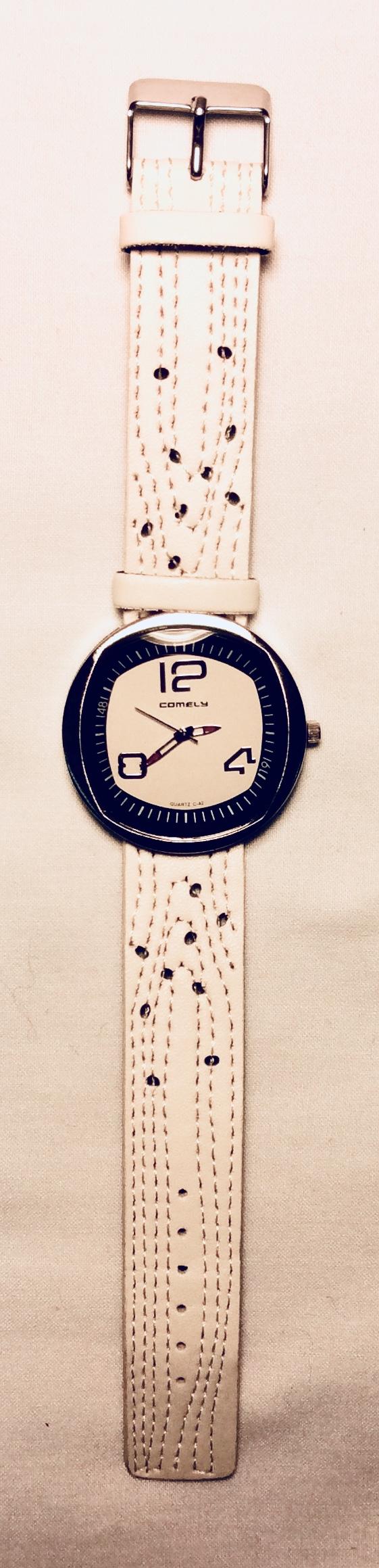 Cream color watch