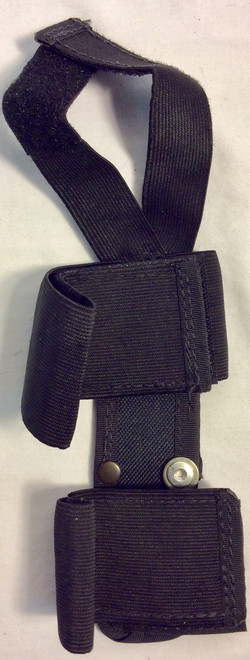 Black nylon leg knife holster
