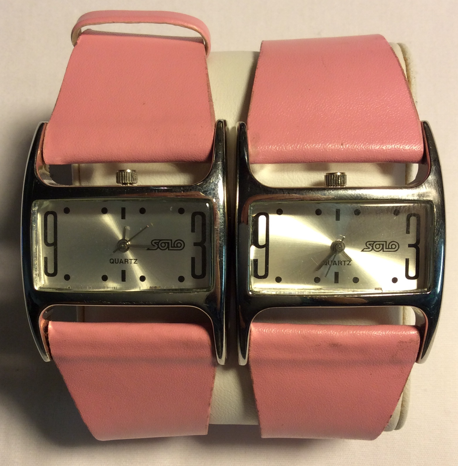 Solo watch- rectangular silver face